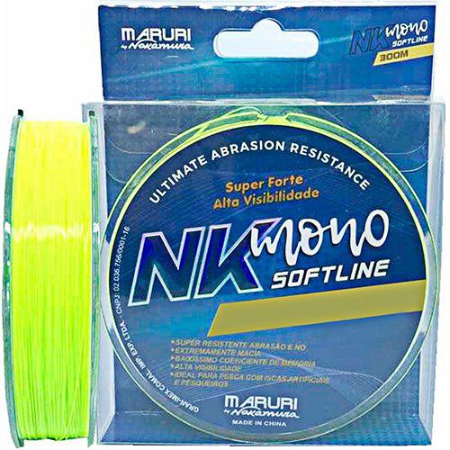 Linha Soft Line Monofilamento 0,37mm 8,49kg 18lb 300m Nelson Nakamura