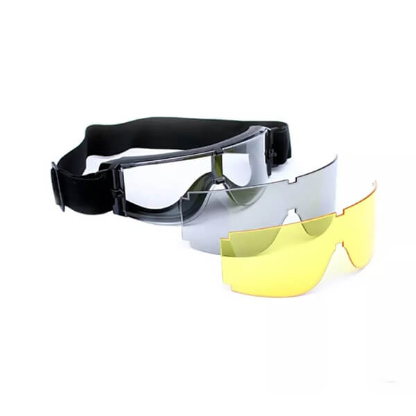 Máscara Óculos De Proteção Airsoft X800 Tripla Lente Actionx