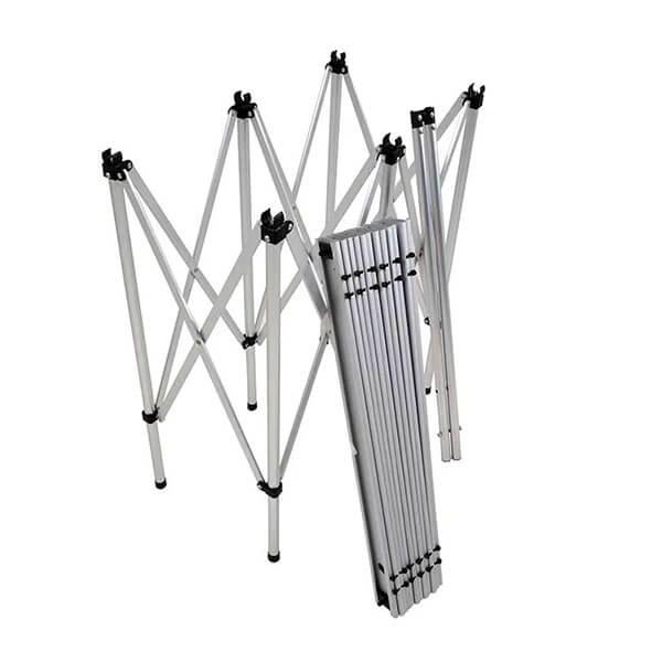 Mesa Dobrável em Alumínio 1,40m x 69,5cm