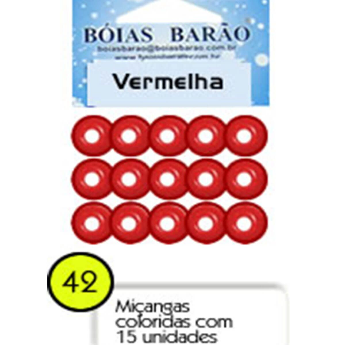 Miçangas Boias Barão 15un