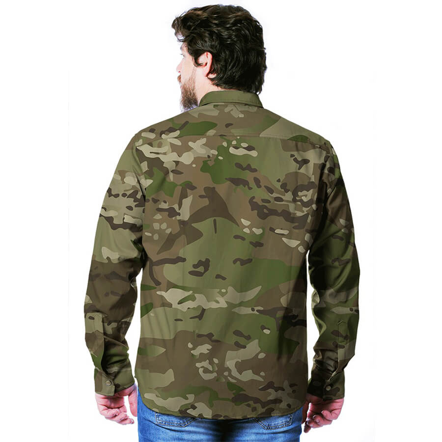 Camisa Gandola Real Hunter Camuflada Multicam
