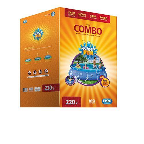 Piscina Inflável Mor Splash Fun 9000 litros Combo