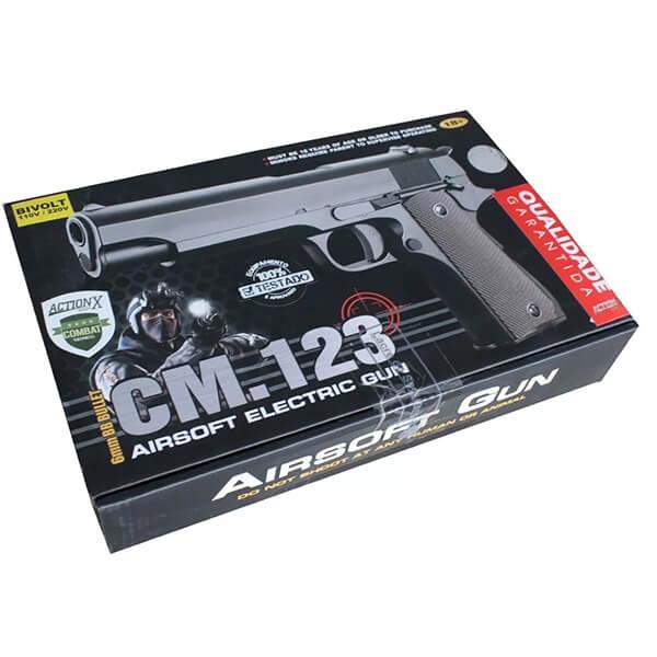 Pistola De Airsoft Cm123 Elétrica Cal. 6mm 1911 Cyma