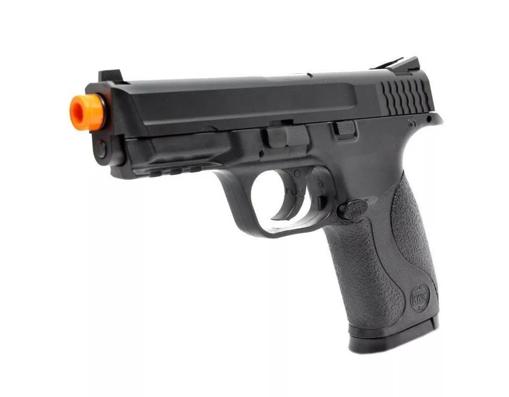 Pistola De Airsoft Co2 S&w Mp40 Slide Metal - Kwc 6mm + Maleta
