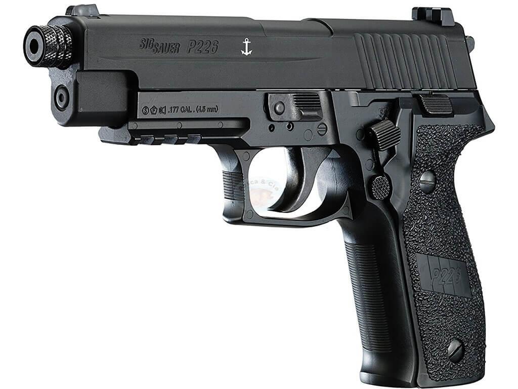 Pistola De Pressão Co2 Sig Sauer P226 4.5 Full Metal Com Blow Back