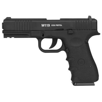 Pistola de Pressão CO2 W119 Slide Metal 4.5mm C/ BLOWBACK