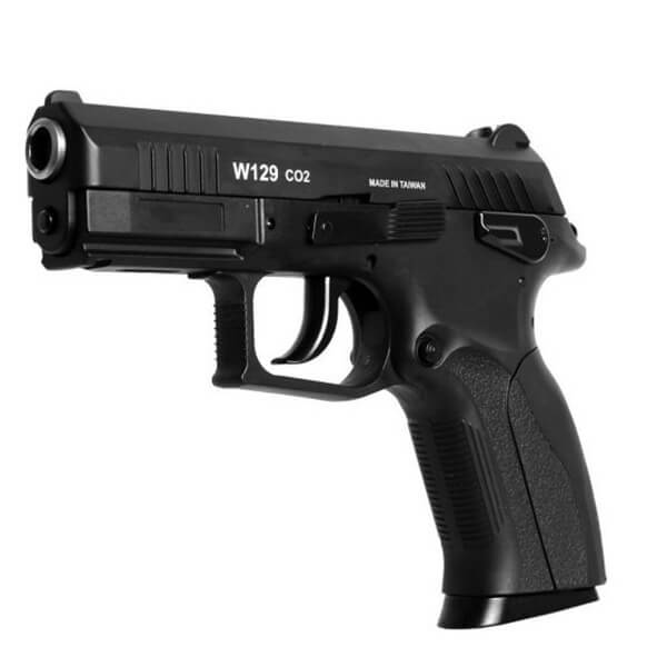 Pistola de Pressão CO2 Win Gun W129 Slide Metal 4.5mm