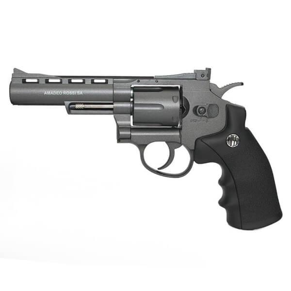 Revólver de Pressão CO2 WG Rossi 701 4,5mm 6 Tiros 4pol. - Full Metal