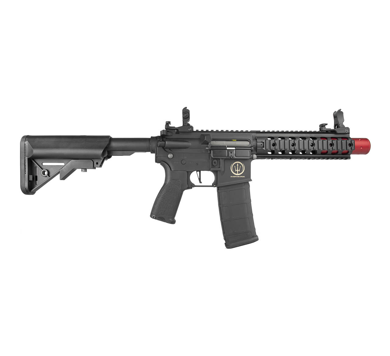 """Rifle Airsoft AR15 Neptune 8"""" SD ET Rossi - Esfera 0,20gr"""