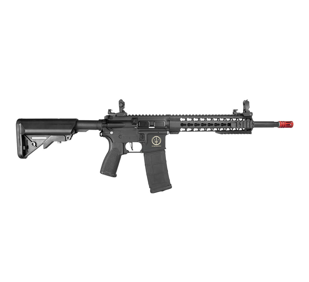 "Rifle Airsoft AR15 Neptune Keymod 10"" Elet. Rossi"
