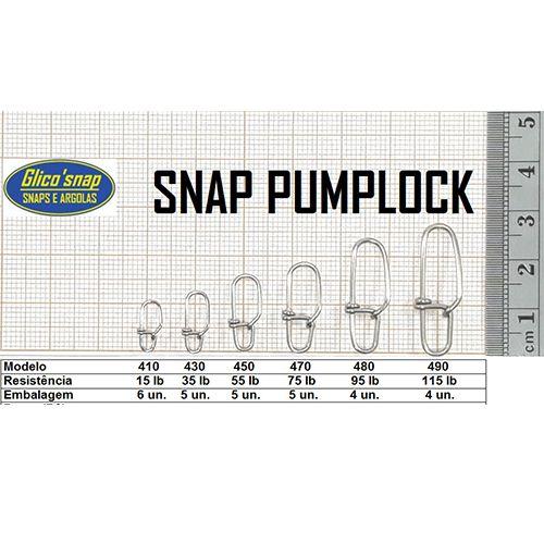 Snap Pumplock com Girador Glico'Snap Mod. 450 55lb 5pç