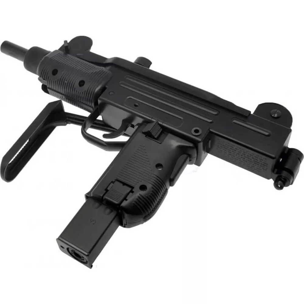 Sub Metralhadora Pressao C02 Kwc Uzi Metal B.black 4,5mm