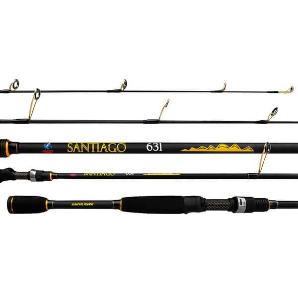 Vara Albatroz Fishing Santiago C631 1,90M 6-10lb Carretilha