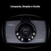 Câmera Veicular DVR Gravação Vídeo Full HD 1008p Carro 16GB