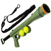 Lançador Bola Cão Arma Brinquedo Cachorro Ar Livre PET Verde