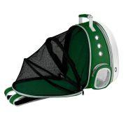 Mochila Pet Expansiva Design Astronauta Cães Gatos Verde