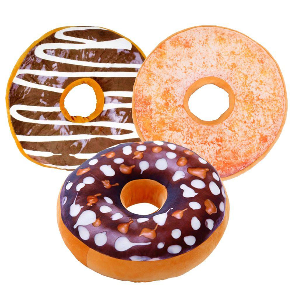 3 Almofadas Criativas Decorativas Magma Rosquinha Donut A