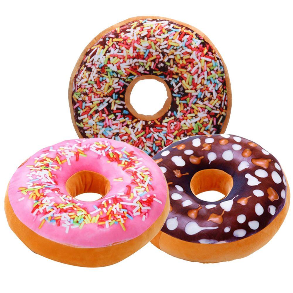 3 Almofadas Criativas Decorativas Magma Rosquinha Donut B