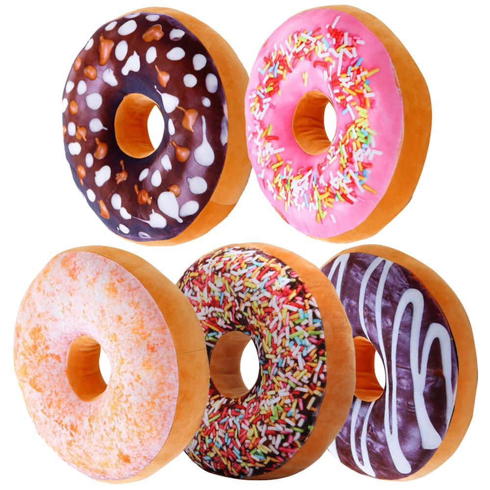 5 Almofadas Criativas Decorativas Magma Rosquinha Donut  - Magma Br