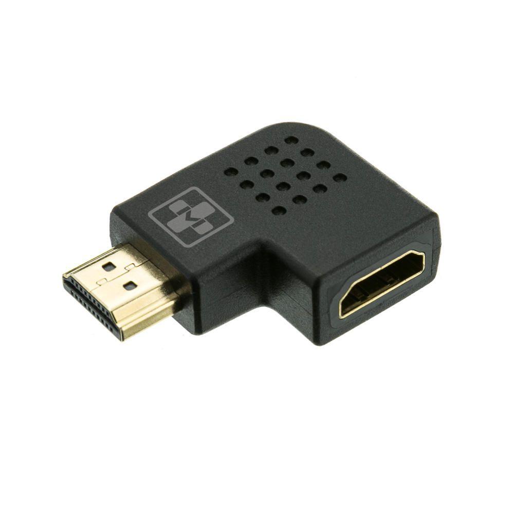 Adaptador HDMI Mais Mania em L HDMI M x F Horizontal