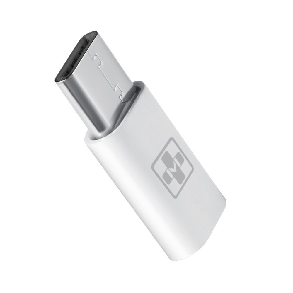 Adaptador Mais Mania Micro USB (5P) Fêmea x Type-C 2.0 Macho