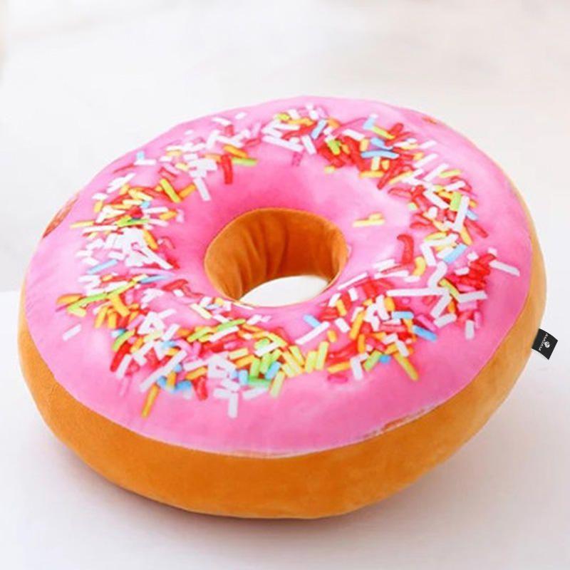 Almofada Decorativa Rosquinha Magma Donut Granulado Morango