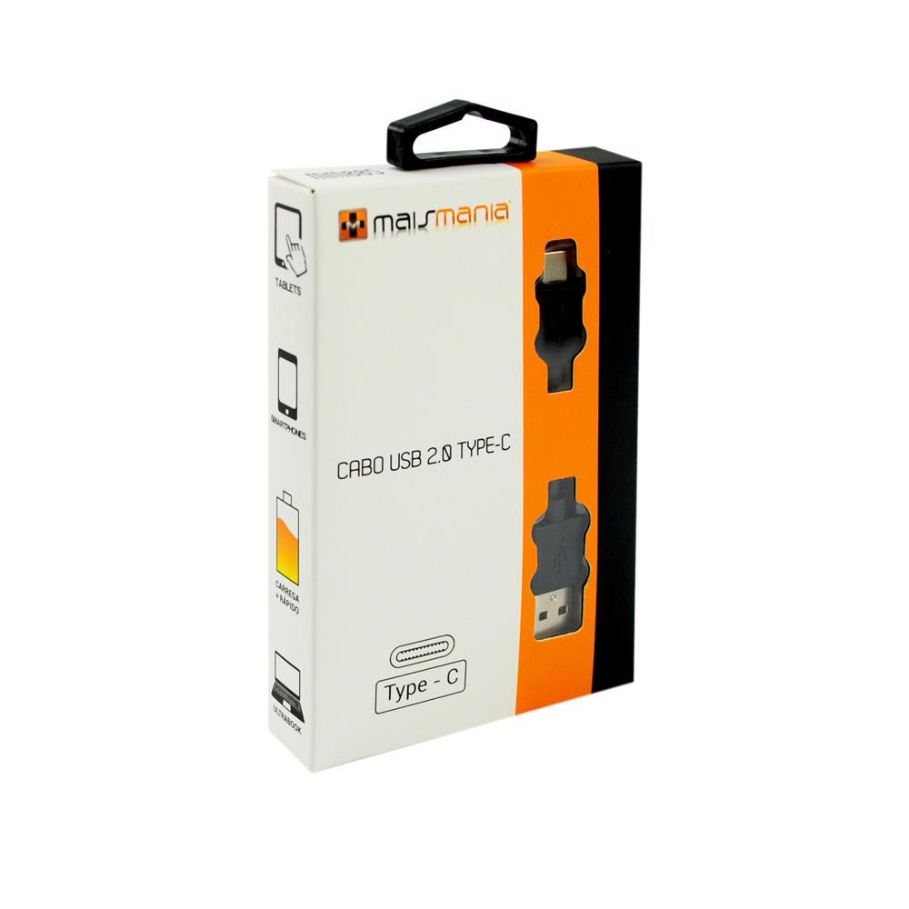 Cabo USB Type-C Mais Mania USB C 2.0  - Magma Br