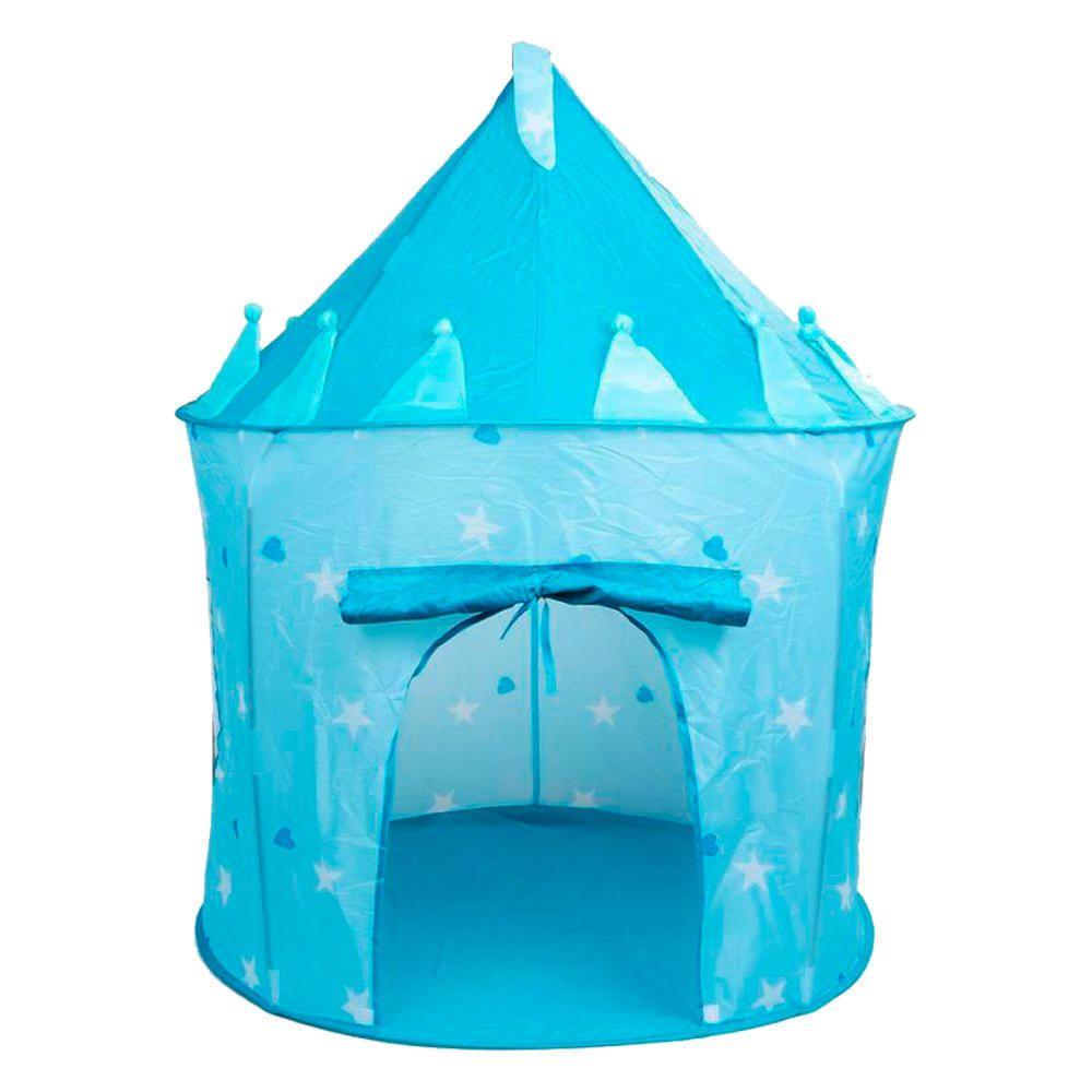 Castelo Cabana Barraca Portátil Infantil Azul Menina Menino