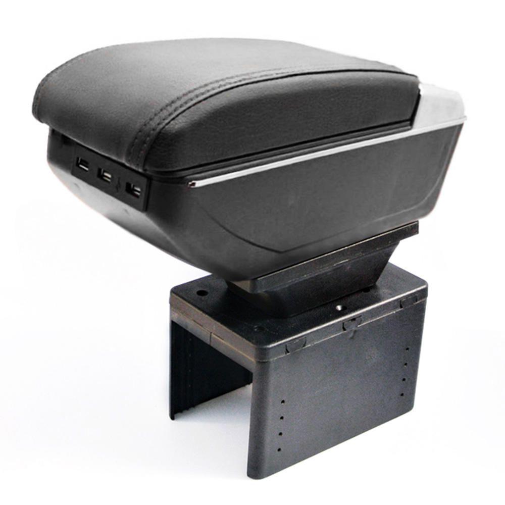 Console Apoio Braço Central Carro Universal Magma USB Preto
