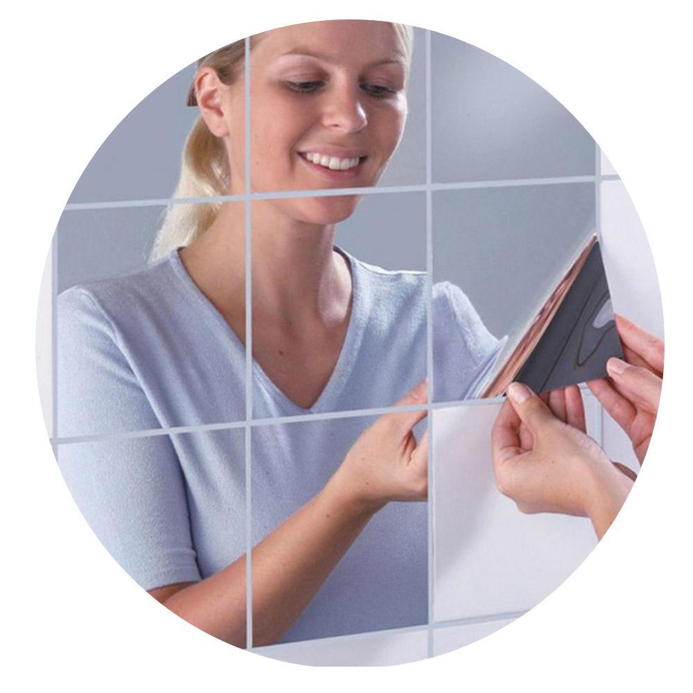 Espelho Mágico Decorativo 15cm Flexível Adesivo Acrílico Pet