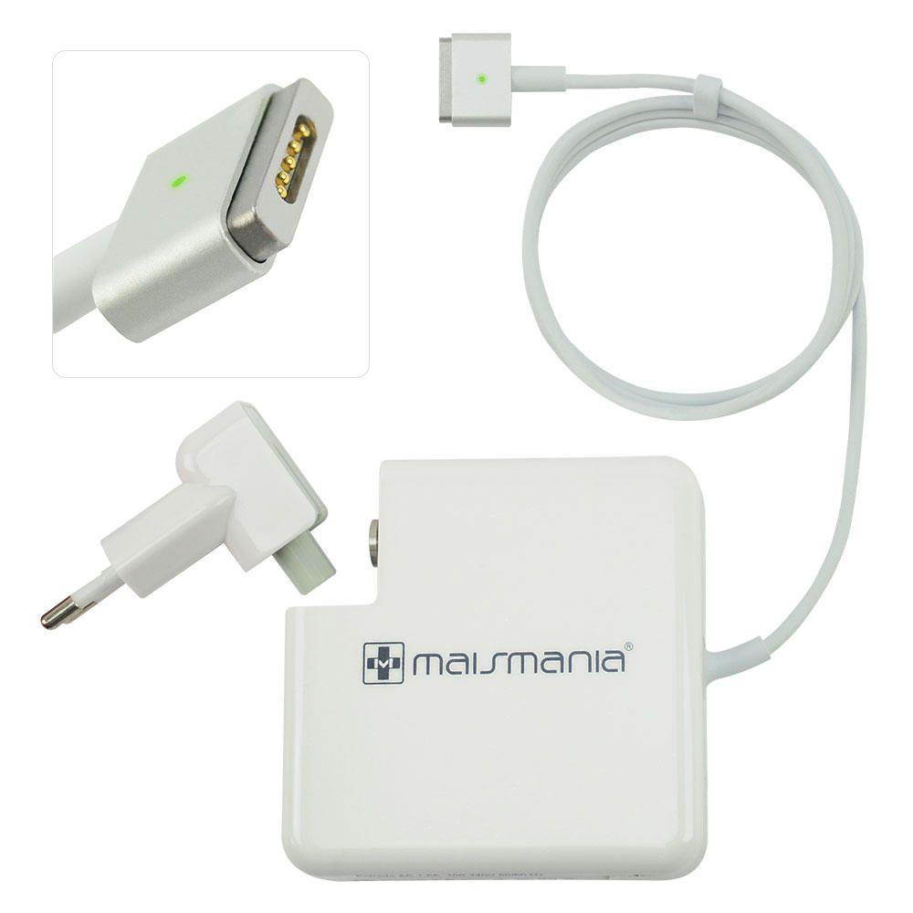 Fonte Carregador Compatível Mais Mania p MacBook Apple Magsafe 2 85W