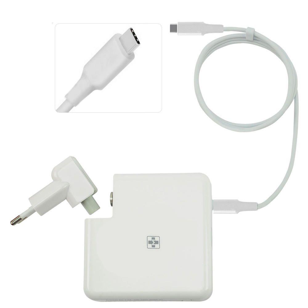 Fonte Carregador Mais Mania Notebook APPLE 5V 9V 12V 14.5V 15V 20V e 20.3V - 61W USB Type-C