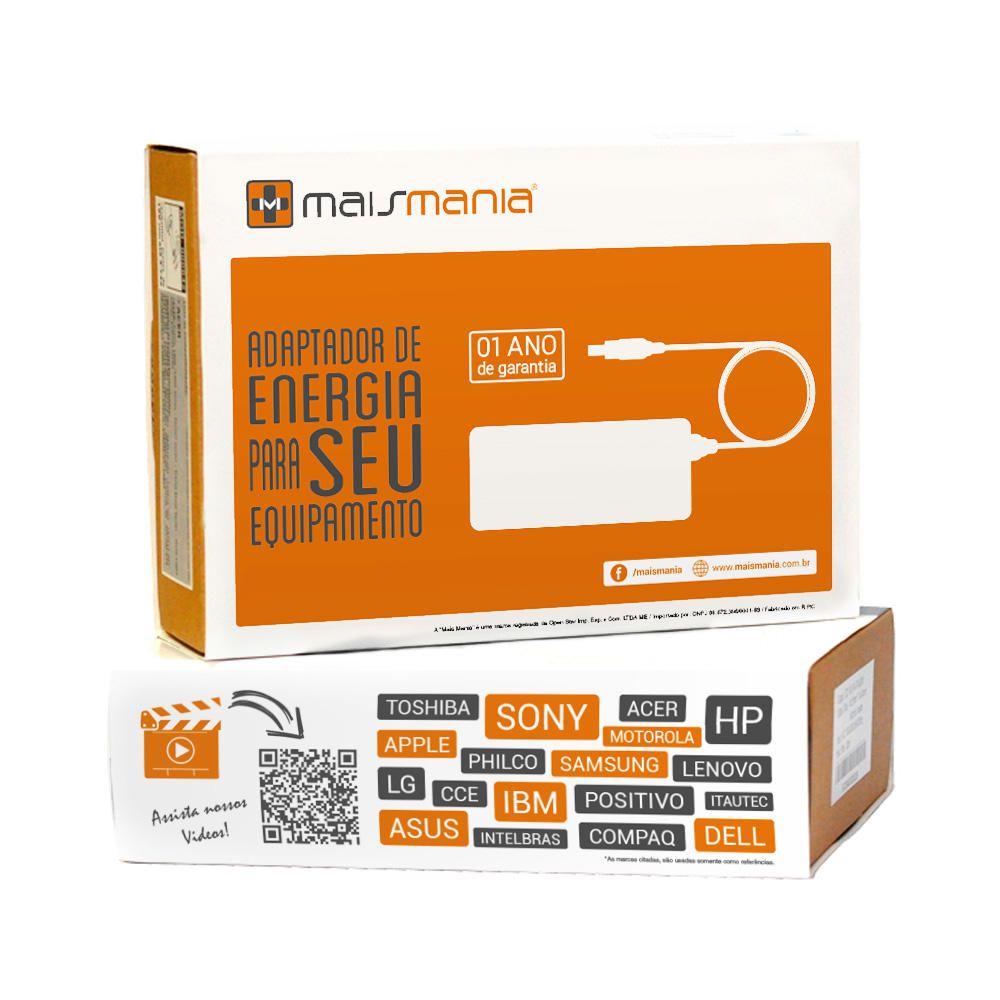 Fonte Carregador Mais Mania p Notebook Dell 19.5V 3.34A 65W  - Magma Br