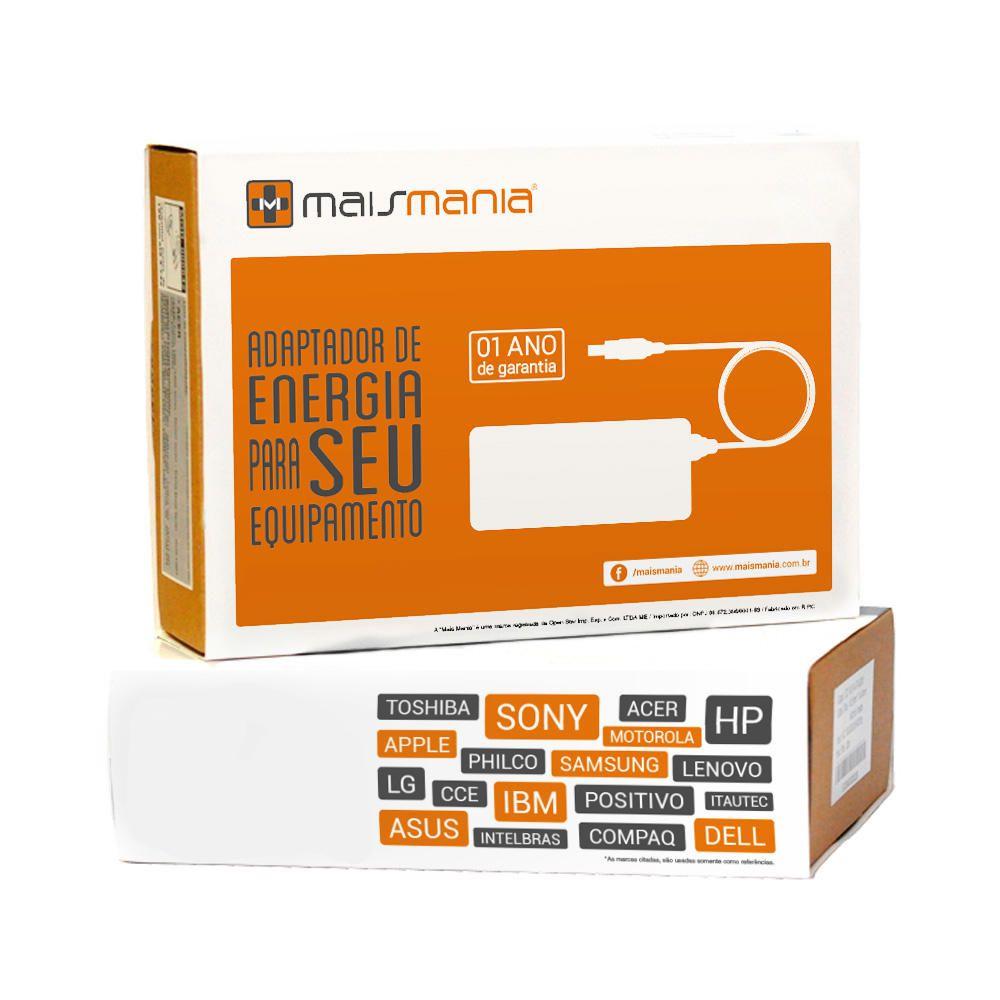 Fonte Carregador Mais Mania p Notebook Toshiba 19V 3.15A 60W  - Magma Br