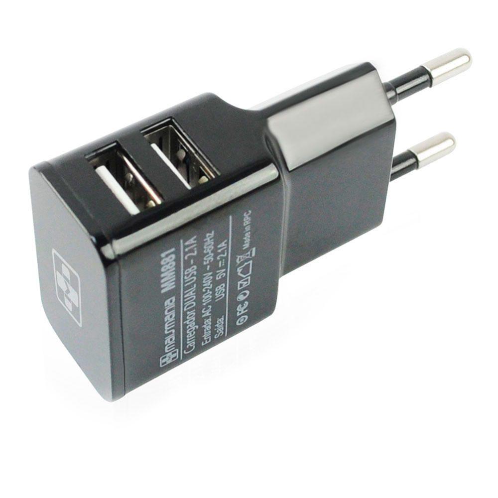 Fonte Carregador Mais Mania Residencia Dual USB 2.1A