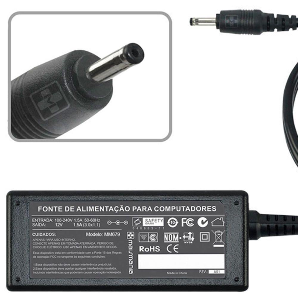 Fonte Carregador Mais Mania Tablet Acer 12V 1.5A 18W  - Magma Br