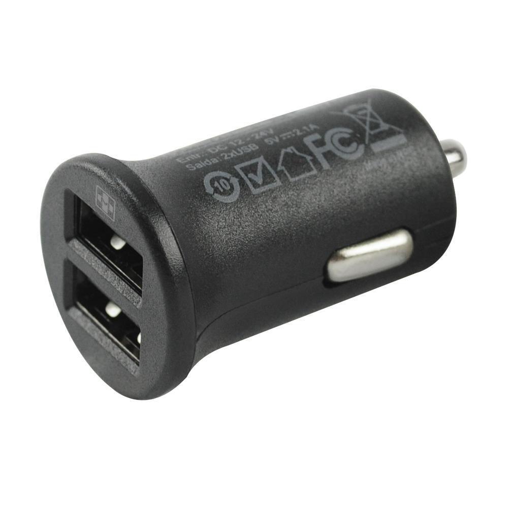 Fonte Micro Carregador USB Mais Mania Veicular Dual USB 2.1A