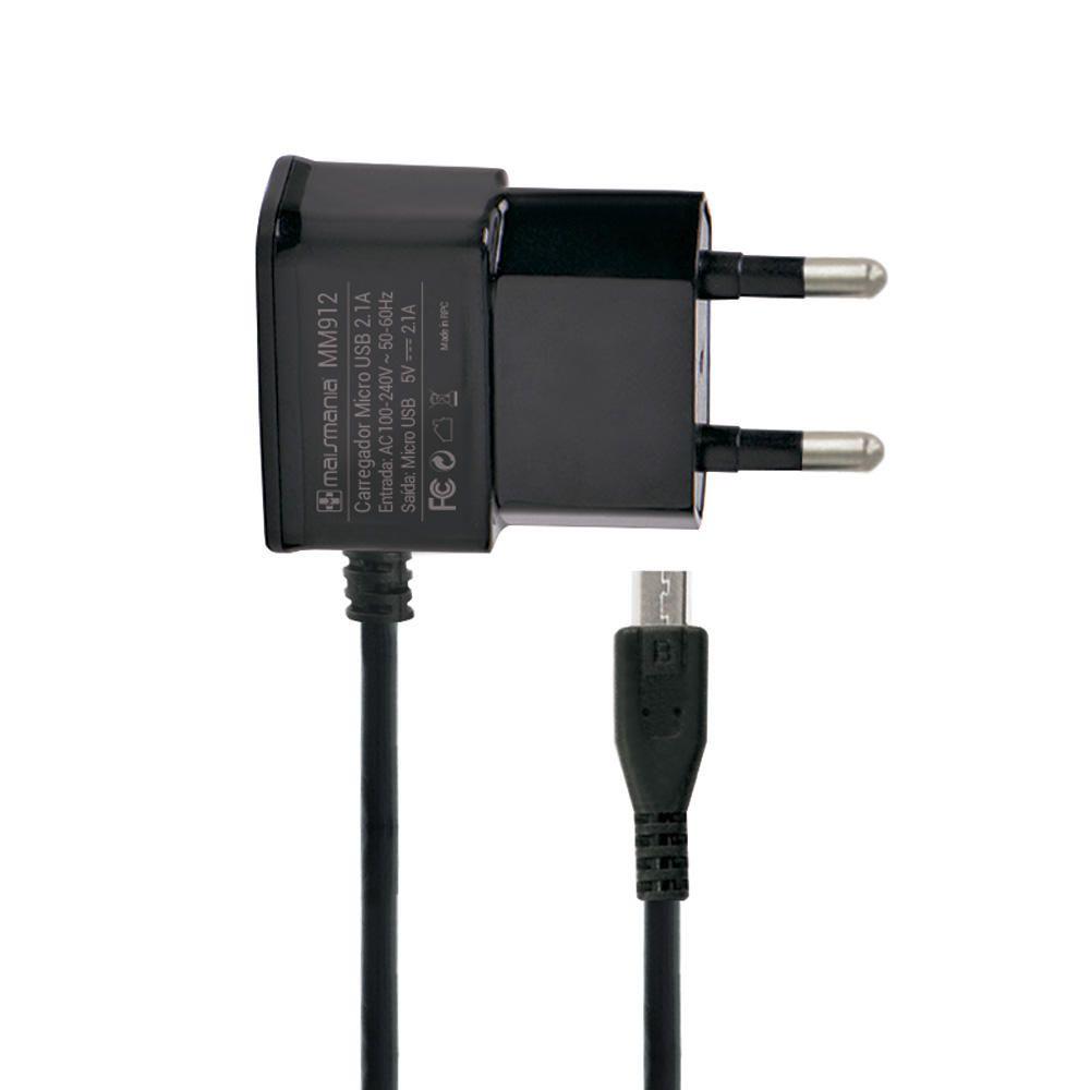 Fonte Micro USB Residencial Mais Mania - 5V 2.1A 10W