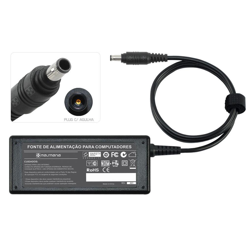 FONTE P/ MONITOR 16V 3.75A 5.5X3.0 SAMSUNG