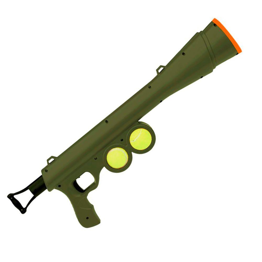 Lançador Bola Cão Arma Brinquedo Cachorro Ar Livre PET Verde  - Magma Br