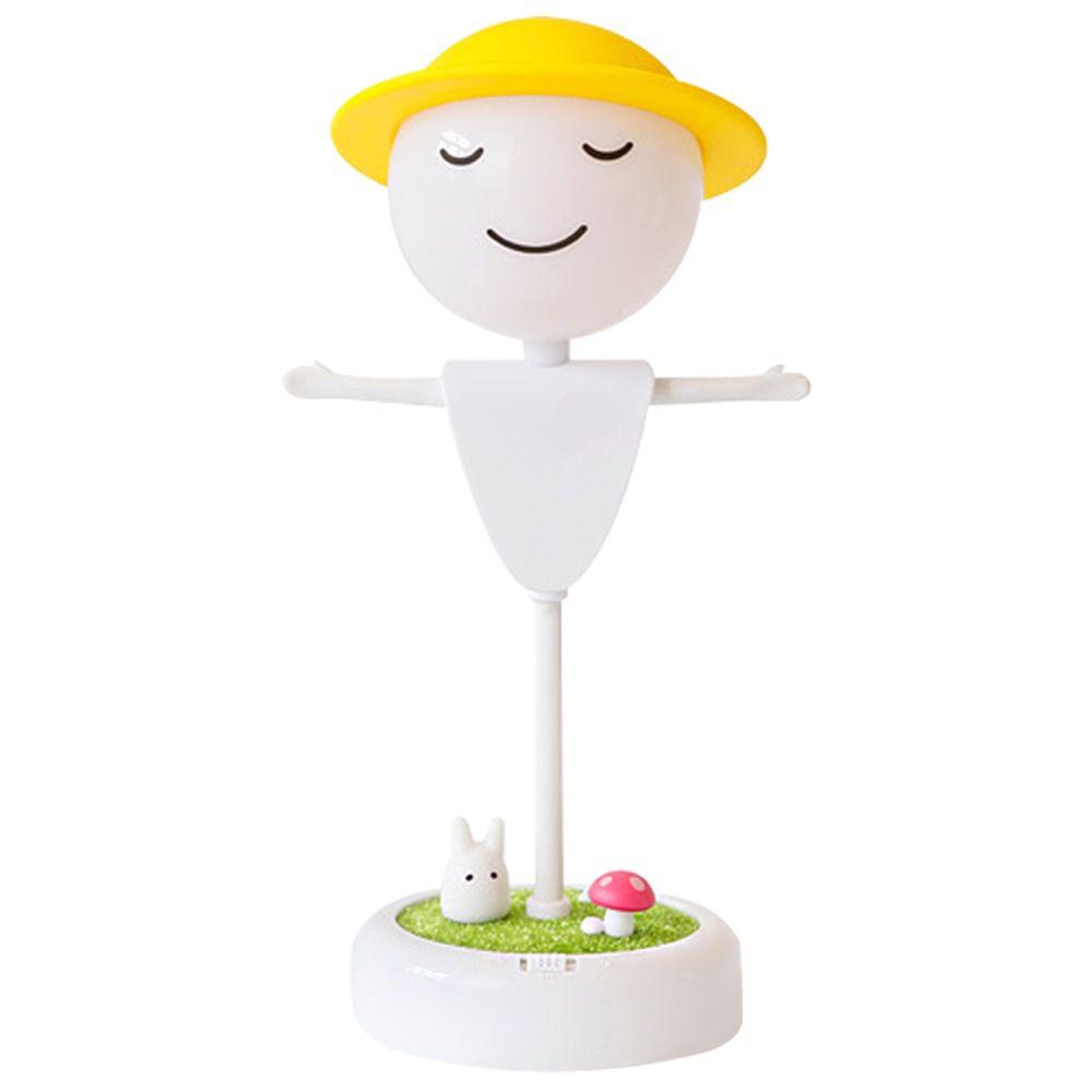 Luminária Abajur Espantalho Quarto Criança Bebê LED Silicone