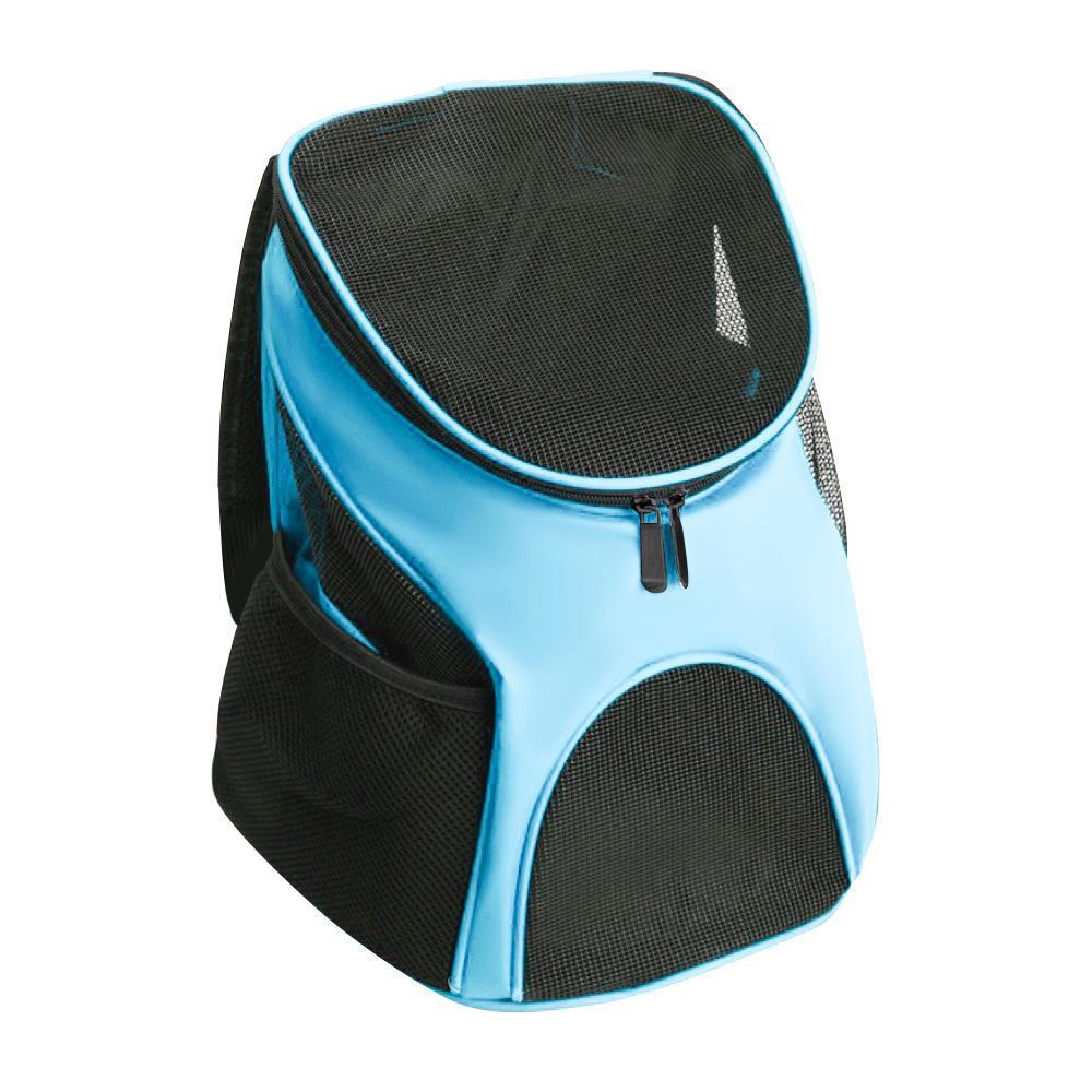 Mochila Bolsa Transporte PET Design Canguru Cães Gatos Azul