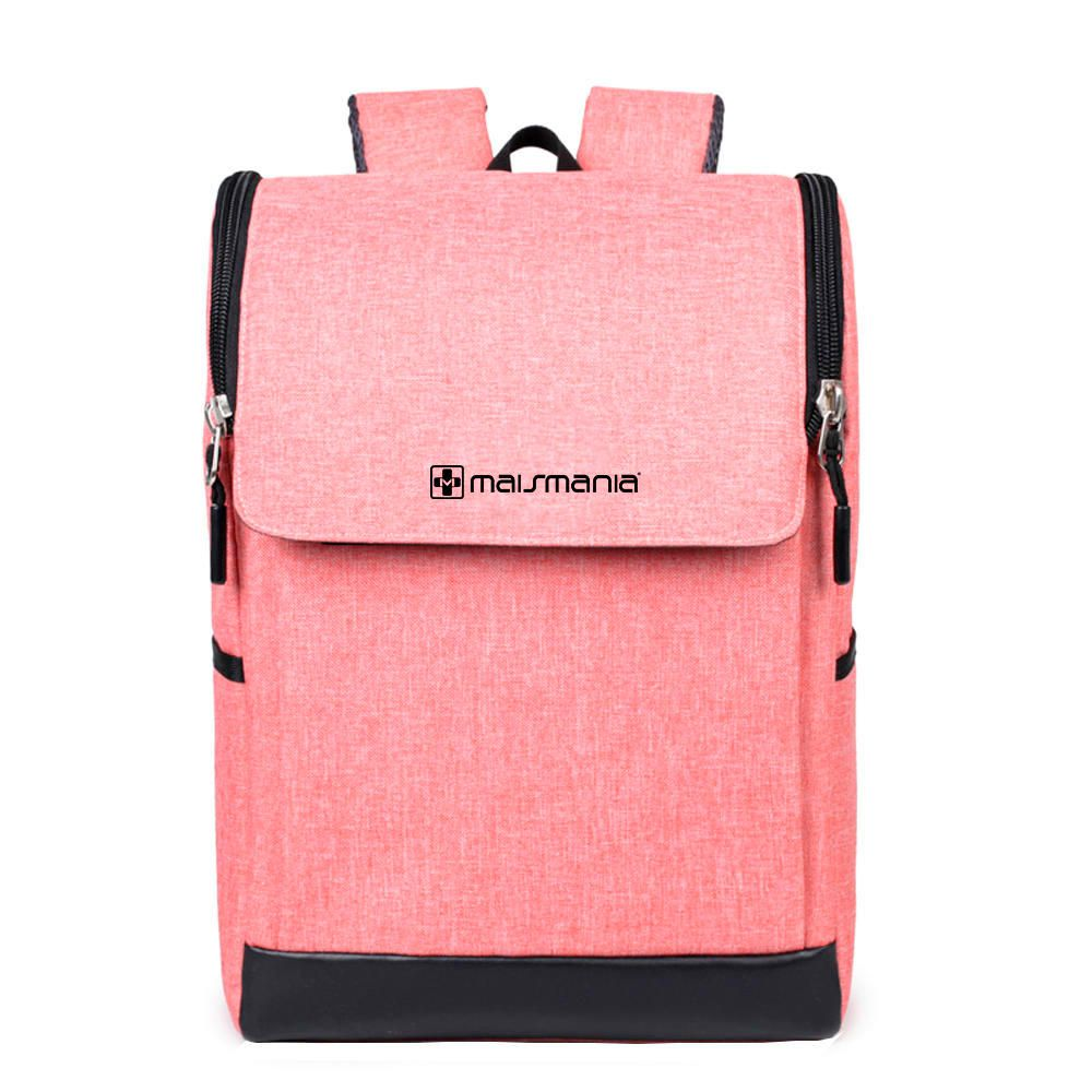 Mochila p Notebook Mais Mania Rosa Design