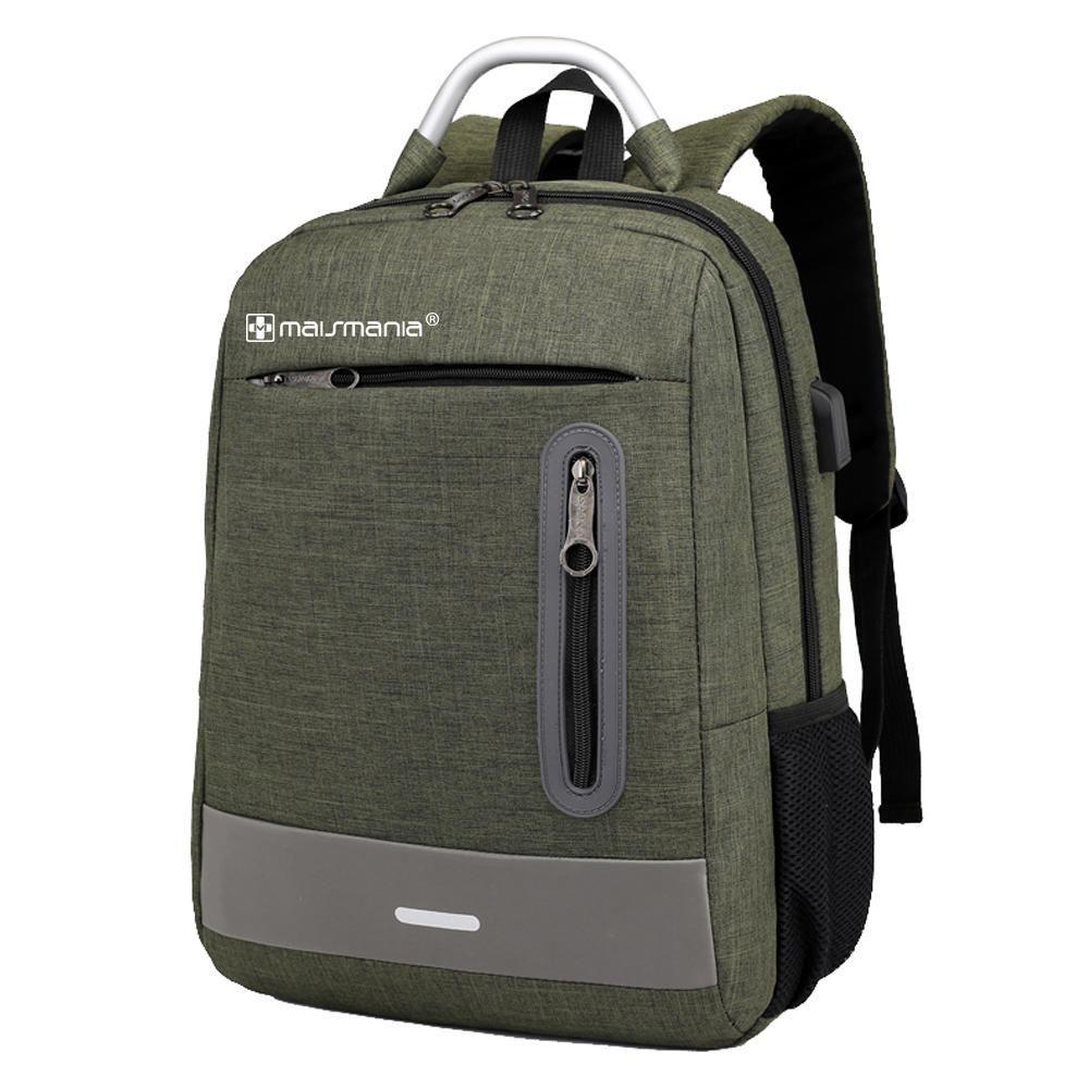 Mochila p Notebook Mais Mania Verde Militar Style Tech