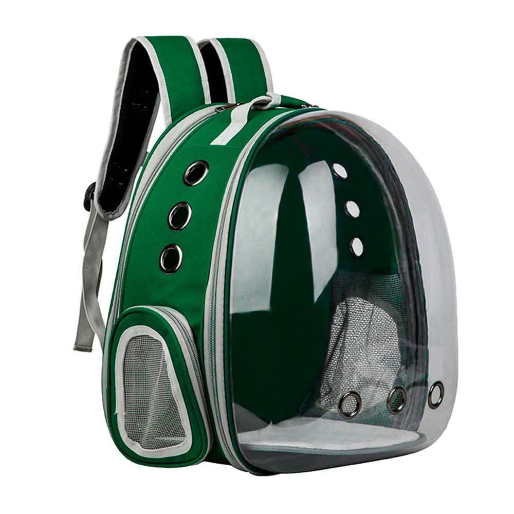 Mochila Pet Expansiva Design Astronauta Cães Gatos Verde  - Magma Br