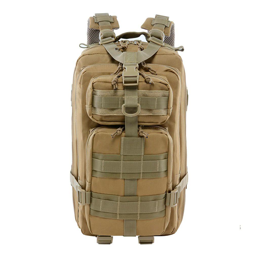Mochila Tática Assault Militar MOLLE Trilha 30 Litros Deserto