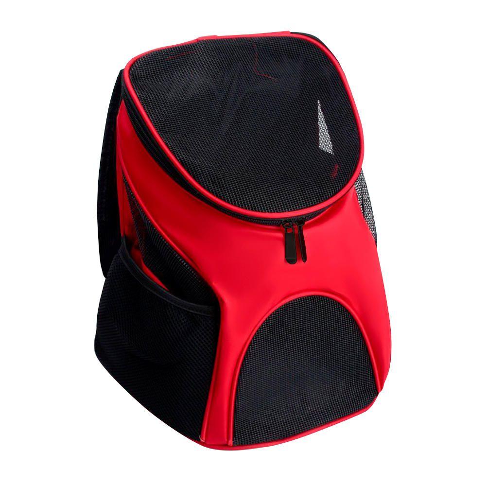 Mochila Transporte PET Design Canguru Cães e Gatos Vermelho