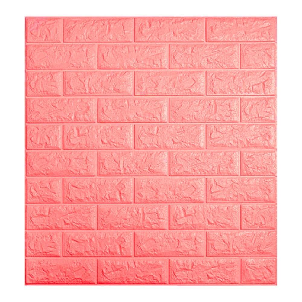 Painel Adesivo 3D Revestimento Tijolo ROSA DIY Papel Parede
