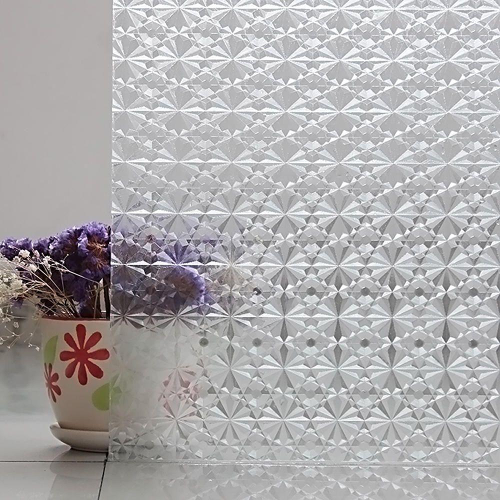 Película Adesivo Eletrostática Estática 3D Vidro Estrela