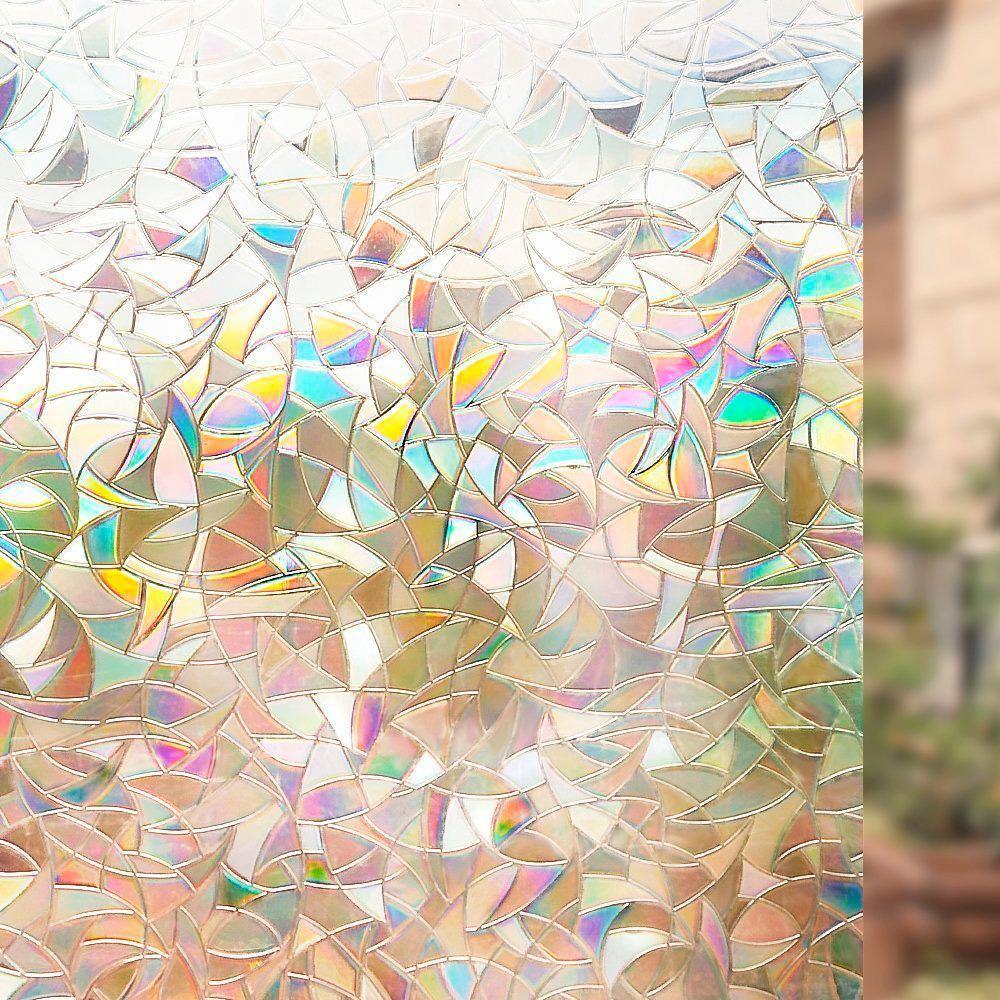 Película Adesivo Eletrostática Estática 3D Vidro Mosaico